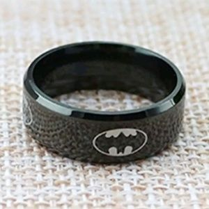 Other - Stainless Steel Black Batman Ring Size 12